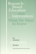 Research Based Education And Intervention