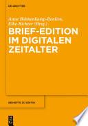 Brief-Edition im digitalen Zeitalter