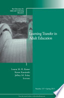Learning Transfer in Adult Education