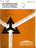 Government wide Index to Federal Research   Development Reports