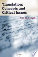 Translation  Concepts and Critical Issues