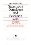Staatsmacht, Demokratie und Revolution in der DVR Algerien