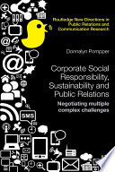 Corporate Social Responsibility  Sustainability and Public Relations