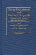 Group Defamation and Freedom of Speech