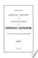 Annual Report Of The Medical Director Of The Cincinnati Sanitarium