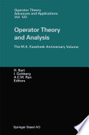 Operator Theory and Analysis