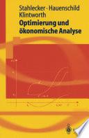 Optimierung und ökonomische Analyse