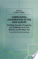 Subregional Cooperation in the New Europe