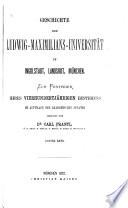 Geschichte der Ludwig-Maximilians-Universität in Ingolstadt, Landshut, München