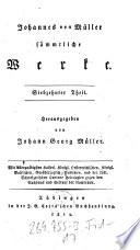 Johannes von Muller Sammtliche Werke