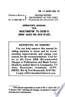 Operator's Manual for Multimeter TS-352B/U (NSN 6625-00-553-0142).