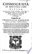 Cosmografia in quattro libri divisa  etc