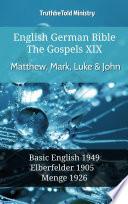 English German Bible The Gospels Xix Matthew Mark Luke John