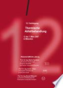 12. Fachtagung Thermische Abfallbehandlung