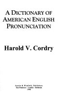 A dictionary of American English pronunciation