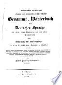 Kurzgefaßtes, vollständiges, stamm- und sinnverwandtschaftliches Gesammt-Wörterbuch der deutschen Sprache