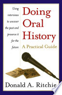 Doing Oral History   A Practical Guide