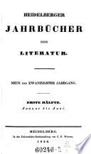Heidelbergische Jahrb  cher der Literatur
