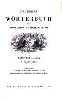 Deutsches W  rterbuch  bd   I  abth   1  16  V verzwungen  Bearb  von E  W  lcker R  Meiszner  M  Leopold  1886 1956