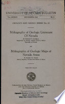 B043  Bibliography of geologic literature of Nevada