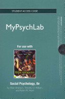 New Mypsychlab -- Standalone Access Card -- For Social Psychology