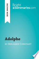 Adolphe by Benjamin Constant  Book Analysis
