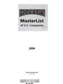 Hoover s Masterlist of U S  Companies 2004