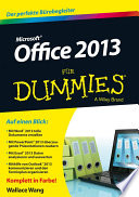 Office 2013 f  r Dummies