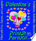 Children s Valentines Birthday Party Kit and Party Games