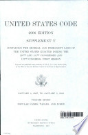 United States Code 2006 Edition