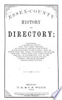 Essex County History and Directory