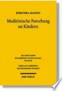 Medizinische Forschung an Kindern