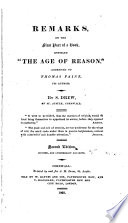 download ebook remarks, on the first part of a book, entitled 'the age of reason', addressed to thomas paine, its author pdf epub