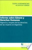 Informe sobre género y derechos humanos