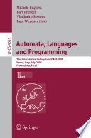 Automata Languages And Programming