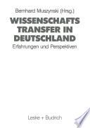 Wissenschaftstransfer in Deutschland