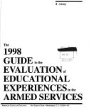 A Guide To The Evaluation Of Educational Experiences In The Armed Services