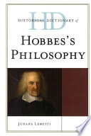 Historical Dictionary of Hobbes s Philosophy