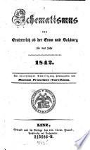 Schematismus von Oesterreich ob der Enns und Salzburg