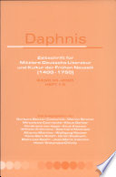 Daphnis. Band 34-2005, Heft 1-2