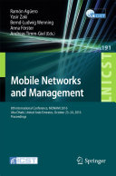 Mobile Networks and Management 8th International Conference On Mobile Networks And