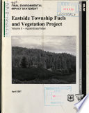 Eastside Township Fuels And Vegetation Project