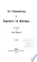 Die Einwanderung der Zigeuner in Europa