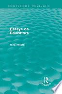 Essays on Educators  Routledge Revivals