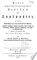 Neues historisch biographisches Lexikon der Tonk  nstler