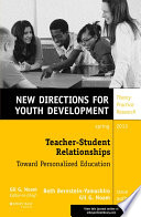 Teacher Student Relationships  Toward Personalized Education