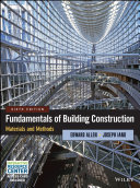 Fundamentals of Building Construction Materials and Methods