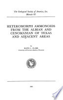 Heteromorph Ammonoids from the Albian and Cenomanian of Texas and Adjacent Areas