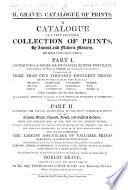 A Catalogue of a very extensive collection of Prints by ancient and modern masters