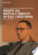 Briefe an Bertolt Brecht im Exil (1933–1949)